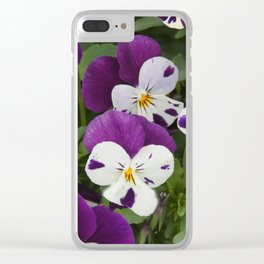 Pansy Clear iPhone Case