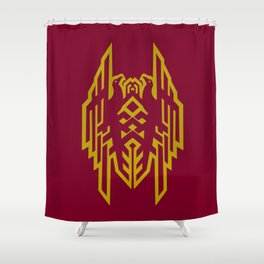 Hawke Amell Crest V1 Shower Curtain