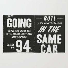 Bowie - Always Crashing in the Same Car Rug