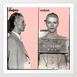 PINKY BOWIE ARRESTED Art Print