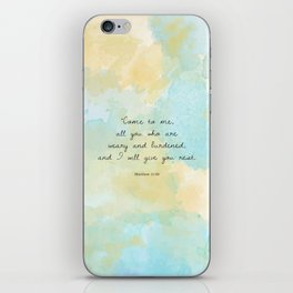 Matthew 11:28 iPhone Skin