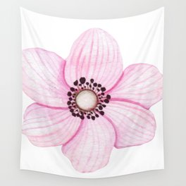 One Pink Flower Wall Tapestry