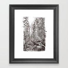 Sea monsters Framed Art Print