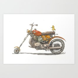 Birdie's Bike Art Print