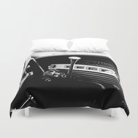 cars Duvet Covers featuring Olddie Cars by Maioriz Home