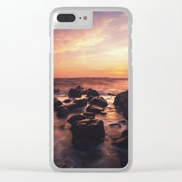 Sprayed In Sunset Clear iPhone Case