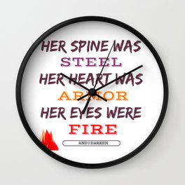 And I Darken book quote Wall Clock