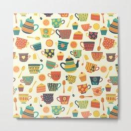 Tea Time Pattern - Sweet Treats Metal Print