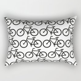 Bicycle Stamp Pattern - Black and White - Fixie Fixed Gear Bike Rectangular Pillow