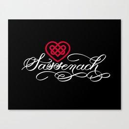 Sassenach with Red Celtic Heart (Dark) Canvas Print