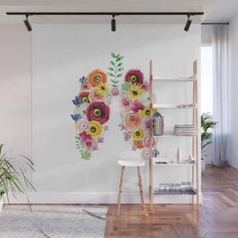 Floral Lungs Wall Mural