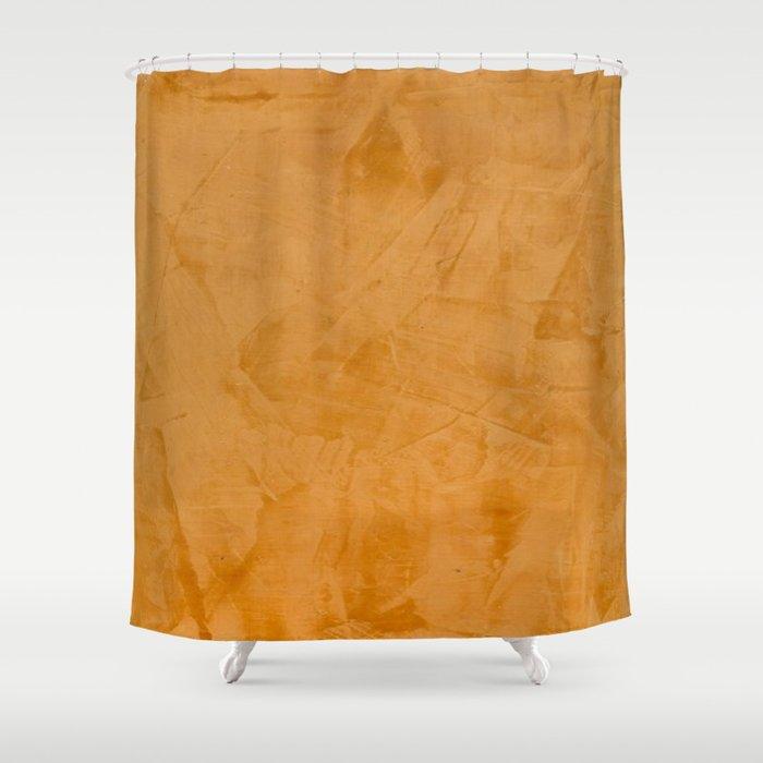Tuscan Orange Stucco Shower Curtain by corbinhenry | Society6