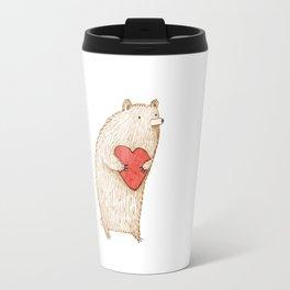 Bear with Heart Travel Mug