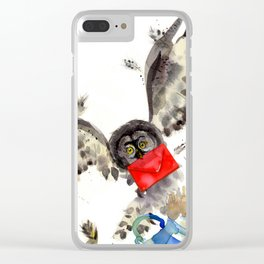Hogwarts Owl Letter Clear iPhone Case