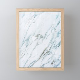 Classic White Marble Framed Mini Art Print