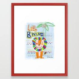 Little Bravo Framed Art Print