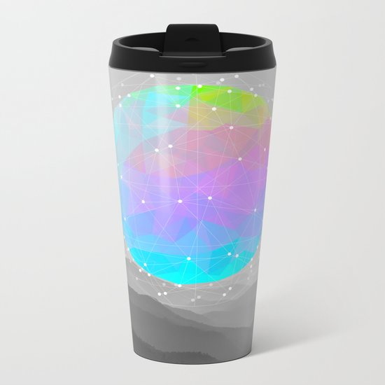 Worlds That Never Were (Geodesic Moon) Metal Travel Mug