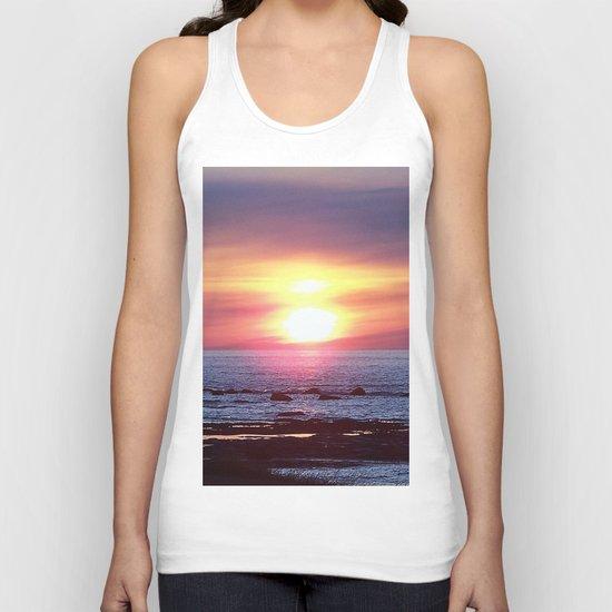 Double Sun Sunset Unisex Tank Top