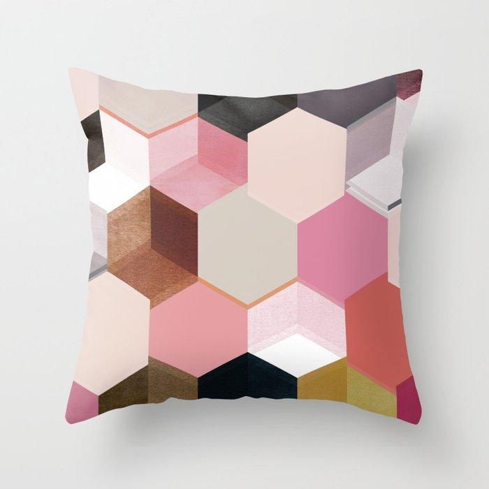 colour + pattern 17 Throw Pillow