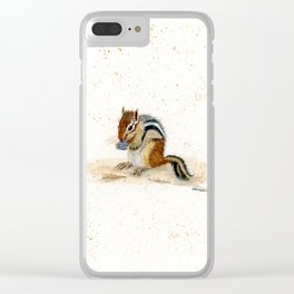 """Chippy"" Chipmunk - animal watercolor painting Clear iPhone Case"