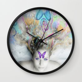 Colourful Dreams by Lesley Smitheringale Wall Clock