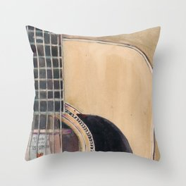 Martin Acoustic Guitar  SSC-D35-14 - from Canada - Watercolor Art Print Throw Pillow
