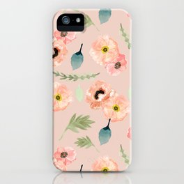 Icelandic Poppies Pattern iPhone Case