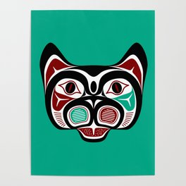 Northwest Pacific coast Haida Kitty Poster