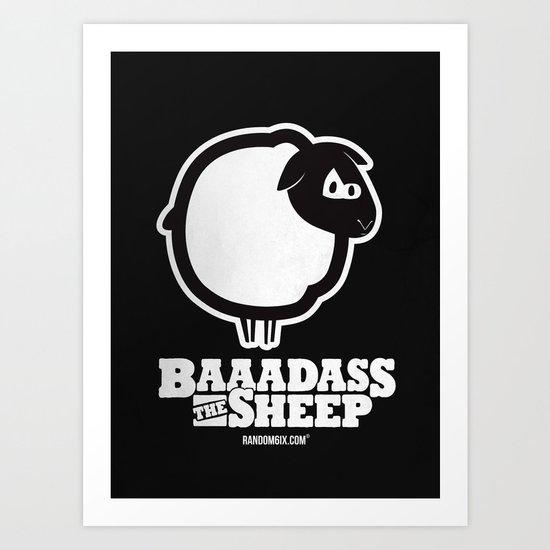 Baaadass the Sheep Art Print