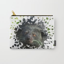 Binturong Looking Trough The Leaves Carry-All Pouch