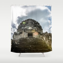 Angkor Wat, Steps to the Lotus Bud, Cambodia Shower Curtain