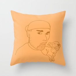 A boy and his dog. Throw Pillow
