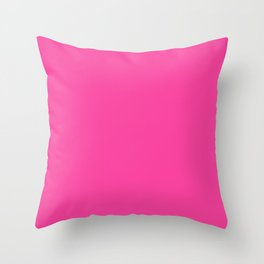 Rose bonbon - solid color Throw Pillow