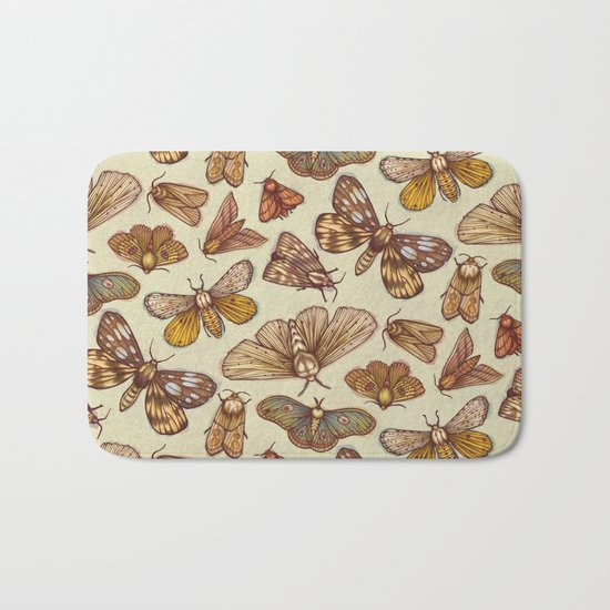 Moth Pattern Bath Mat