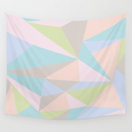 Pastel Triangles Wall Tapestry
