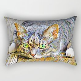 The TABBY II from our FUNK YOUR FELINE line Rectangular Pillow