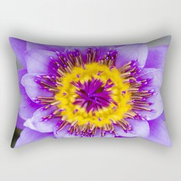 Blue Lotus Close Perspective Rectangular Pillow