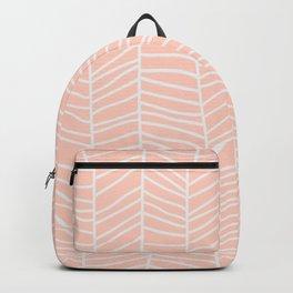 Baesic Herringbone (Coral) Backpack