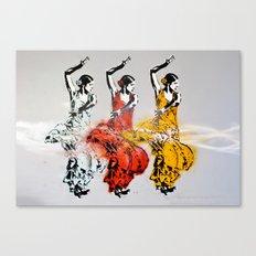 Las tres bailarinas Canvas Print