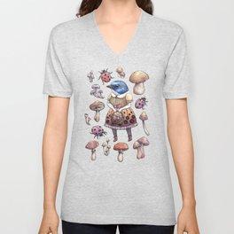 Mushroom Pickers - Lady Blue Unisex V-Neck