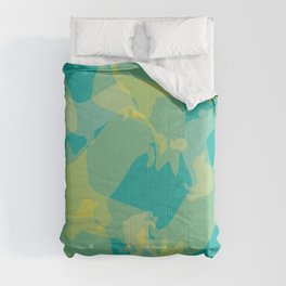 Blue & Yellow Corgi Pattern Comforters