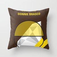 No766 My Donnie Brasco minimal movie poster Throw Pillow
