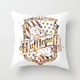Hufflepuff Crest Throw Pillow