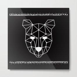 Totem Festival 2015 - White & Black Metal Print