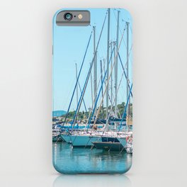 Travel Photography | Many Sailboats and yachts in Sunny Harbor | Fine Art Photography iPhone Case