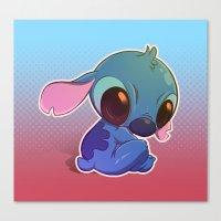 stitch Canvas Prints featuring Stitch! by Matsuo Amon