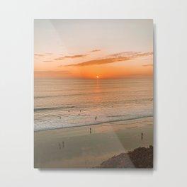 Ocean Sunset in California Metal Print