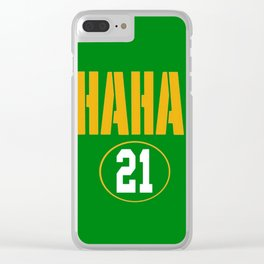 Rodgers  21 (Aaron Rodgers) Clear iPhone Case