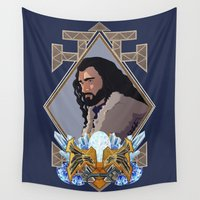 thorin Wall Tapestries featuring Thorin  by Inkforwords