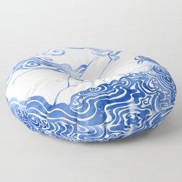 Water Nymph LXVII Floor Pillow